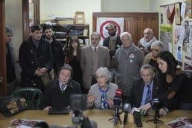 La jueza Garrigós de Rébori, en el acto de Justicia Legítima, la agrupación kirchnerista que impulsa la reforma judicial.