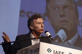 Macri encabezó hoy una jornada organizada por el Instituto Argentino de Ejecutivos de Finanzas (IAEF)