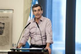 Randazzo brindó esta tarde una conferencia de prensa para explicar los detalles de lo ocurrido en la estación de Once