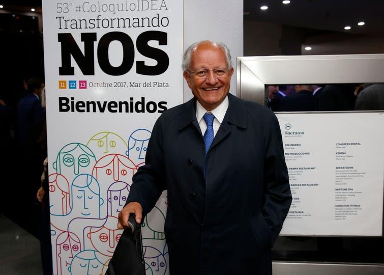 Con la presencia de la gobernadora Vidal se inauguró el 53 Coloquio de Idea Hotel Sheraton de Mar del Plata. El doctor Abel Albino, creador de la Fundación CONIN. Foto: Mauro V. Rizzi