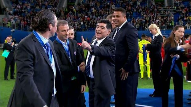 El mensaje de Maradona a Pizzi