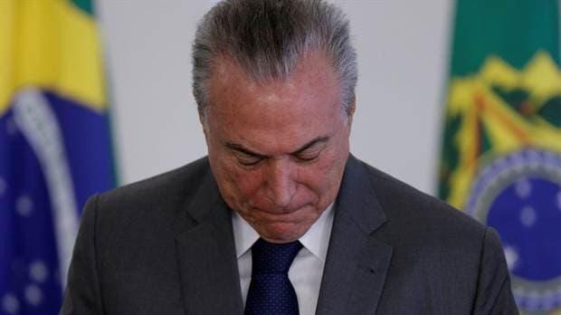 Michel Temer fue internado de urgencia