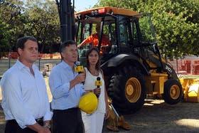 Mauricio Macri durante la inauguración de nuevas obras en la línea H