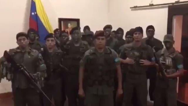 Un grupo militar se rebeló contra Maduro