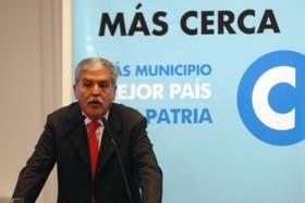 El ministro de Planificación Federal, Julio De Vido, en un acto hoy en la Casa Rosada