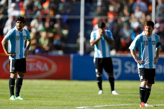 La Argentina sufrió la altura de La Paz. Di María fue el mejor e hizo un desgaste terrible.. Foto: AFP