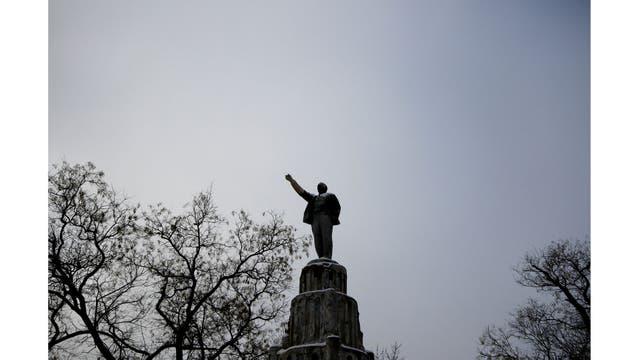 En un parque en Yevpatoriya, Crimea