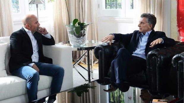 Sampaoli con Macri en Olivos