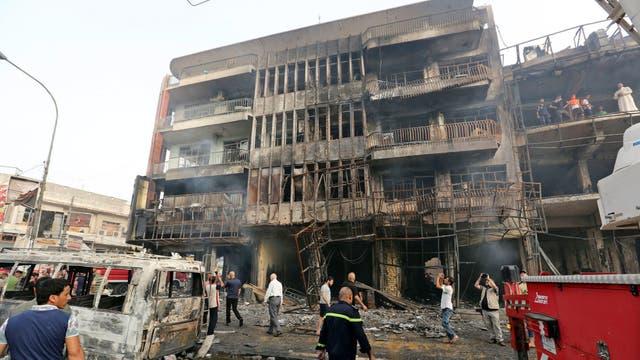 Estado Islámico asumió la autoría en un comunicado firmado por Wilayat Bagdad. Foto: EFE