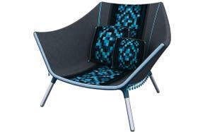 Poncho. La silla creada por Leonardo Sarra fue premiada por la Universidad de Palermo