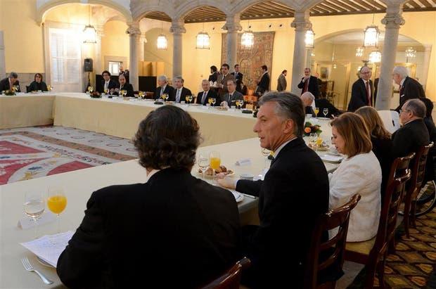 Macri compartió un desayuno con los representantes de las principales empresas españolas