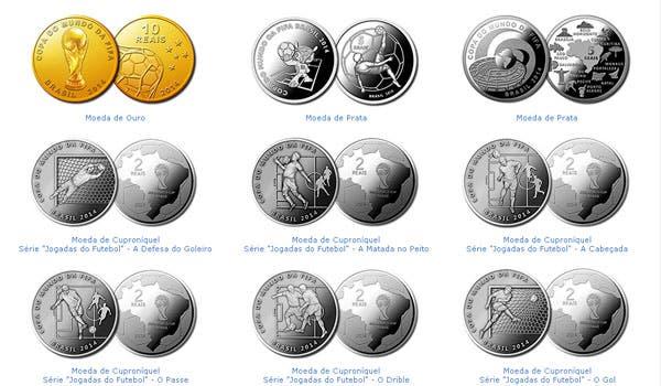 Fueron presentadas las monedas conmemorativas de la cita de Brasil 2014. Foto: EFE