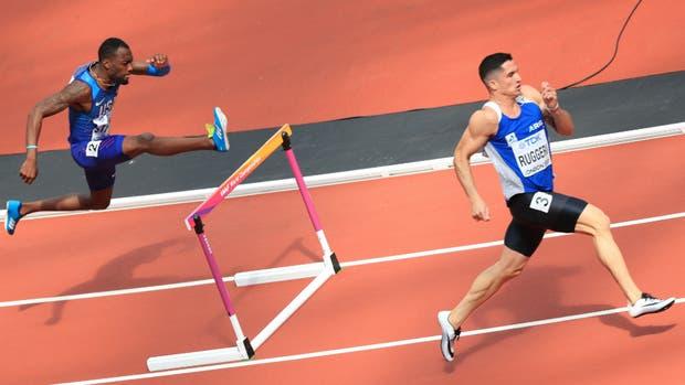 Ruggeri, en acción en los 400 metros con vallas