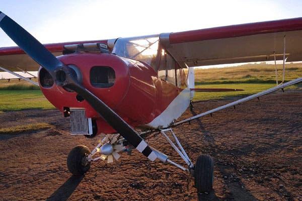 Una de las avionetas utilizadas para transportar droga