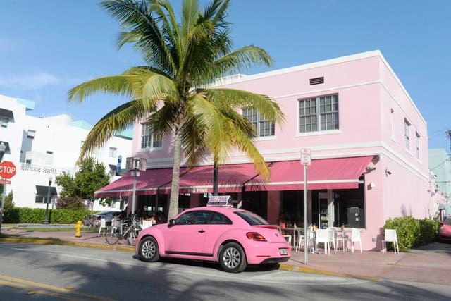 Rosa, palmeras y flamencos, uno de los lugares clásicos para comer