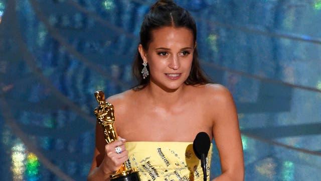 Alicia Vikander, mejor actriz de reparto