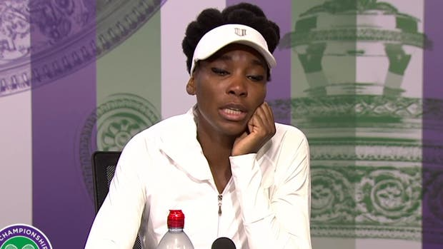 Venus Williams llora ante la prensa al recordar trágico accidente
