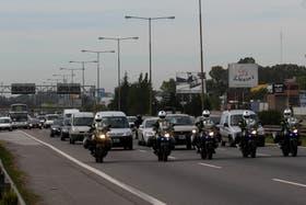 A las 9.52 fue liberada la ruta panamericana donde se encontraban los manifestantes de kraft cortando el acceso