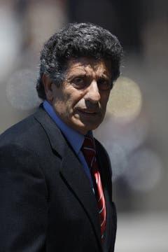 Chacho Álvarez luego de despedir a Néstor Kirchner. Foto: LA NACION / Rodrigo Néspolo