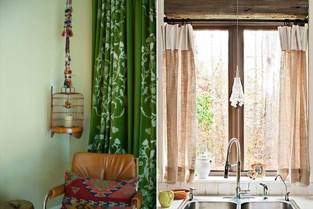 las cortinas estampadas en colores fuertes pueden llenar un rincn y ser muy atractivas otra gran ides es mezclar textiles como lino y seda en colores