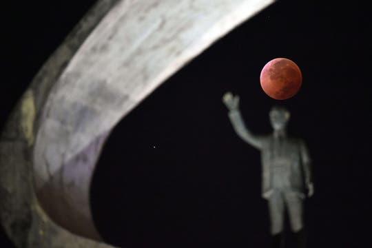 Aspecto de la luna en Brasilia. Foto: AFP