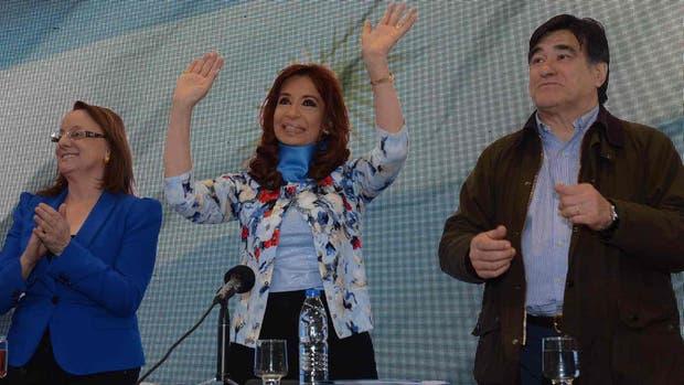 Alicia Kirchner, junto a Cristina y Carlos Zannini