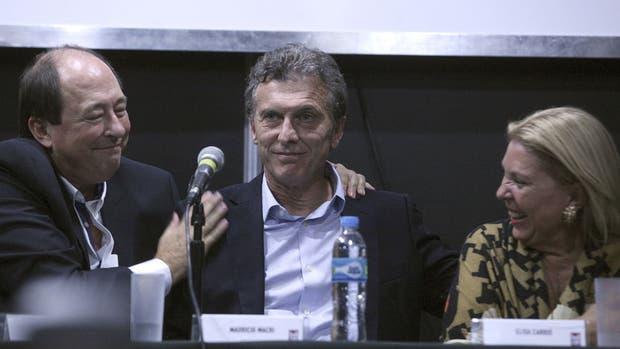 Sanz, Macri y Carrió, los referentes de Cambiemos