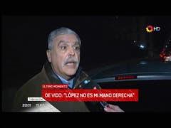 De Vido sobre José López. Fuente: canal 13