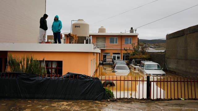 Comodoro Rivadavia, ciudad declarada zona de desastre. Foto: LA NACION / Ricardo Pristupluk