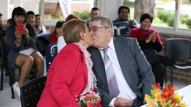 Felina y Rafael se casaron después de 43 años de convivencia