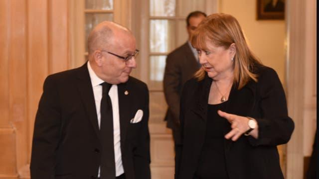 El canciller Jorge Faurie y la presidenta de la 11° Conferencia Ministerial de la OMC, Susana Malcorra