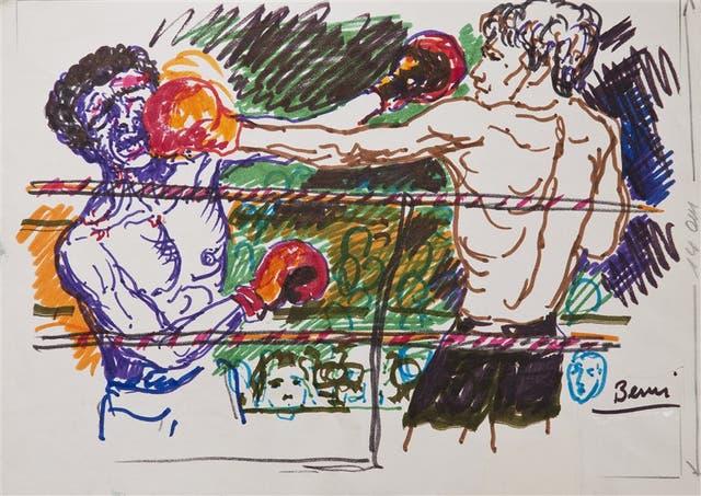 Sin título (Monzón), 1977, marcador sobre papel