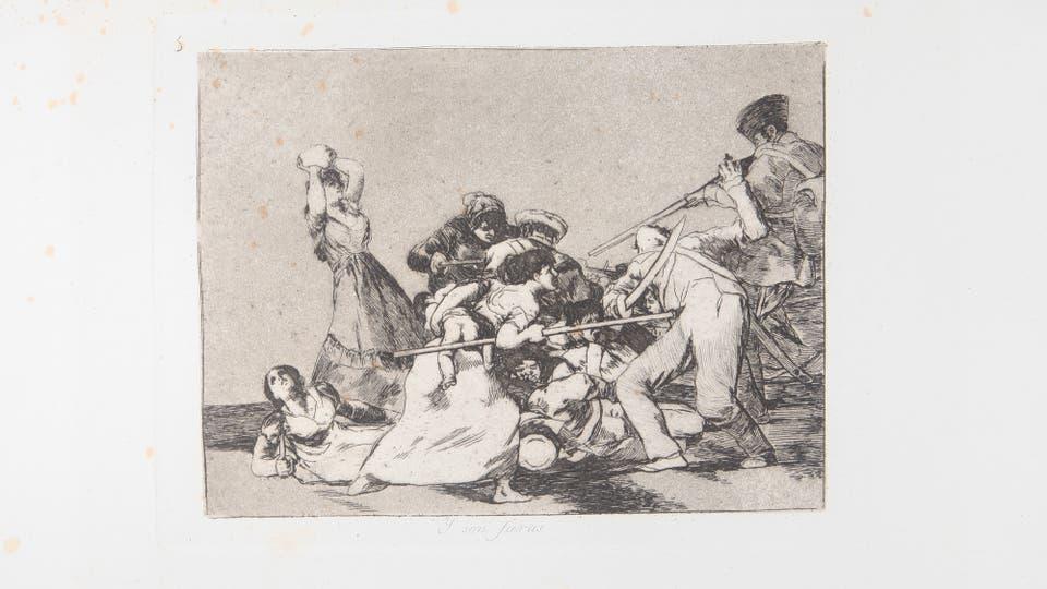Y son fieras (1892), de la serie Los desastres de la guerra