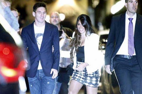 Messi, con Antonella.  /Sport