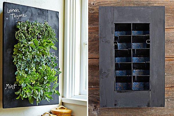 Un cuadro muy natural, con plantas que crecen en su interior. Foto: Decoesfera.com