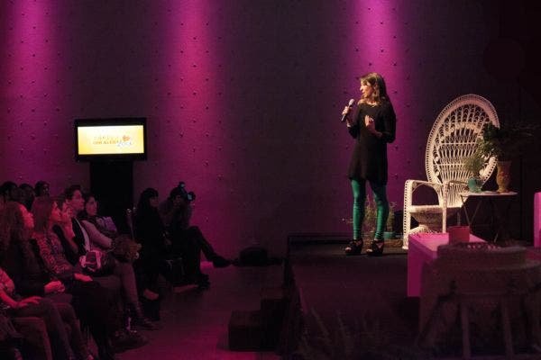 Silvina Bidebehere, en la apertura del evento. Foto: Matías Aimar