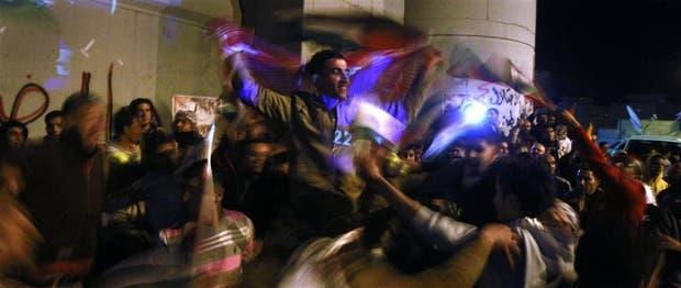 En Cisjordania, los festejos empezaron a la mañana, antes de la votación, y terminaron a la noche
