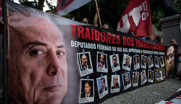 Las calles de Río de Janeiro, otra vez escenario de protestas contra Temer
