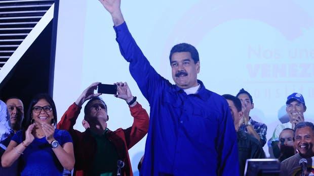 El presidente de Venezuela, Nicolás Maduro, hoy, durante un acto en Caracas