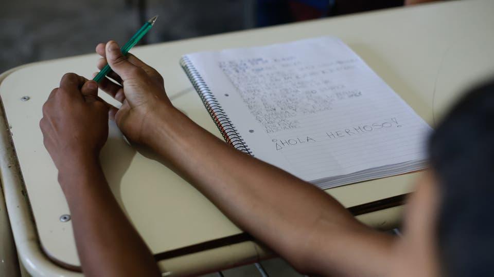 Los desafíos de una escuela cordobesa que educa en un contexto de extrema violencia. Foto: LA NACION / Diego Lima