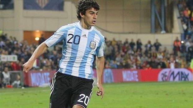 Perotti debutó en la selección con Diego Maradona