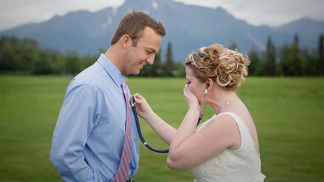 El momento de mayor alegría de la novia.