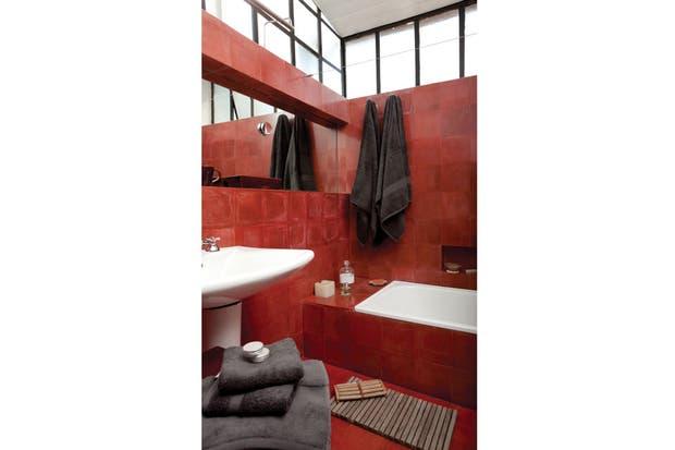 Pisos Para Baños Blaisten:con piso y pared de mosaicos calcáreos (Entorno), lavatorio Sydney de