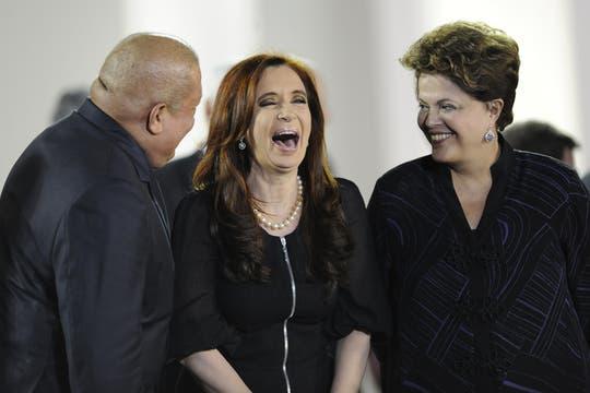 Kirchner, Chavez y Rousseff durante un encuentro en Caracas en diciembre de 2011. Foto: Archivo