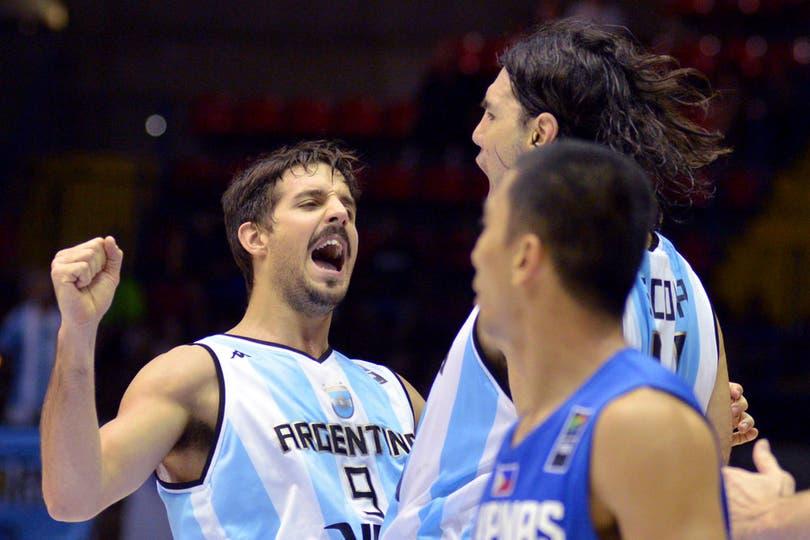 El festejo argentino ante Filipinas