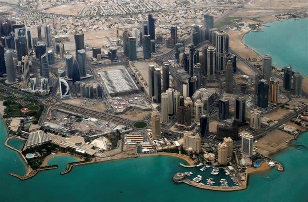 Una vista aérea de la zona diplomática de Doha, la capital de Qatar