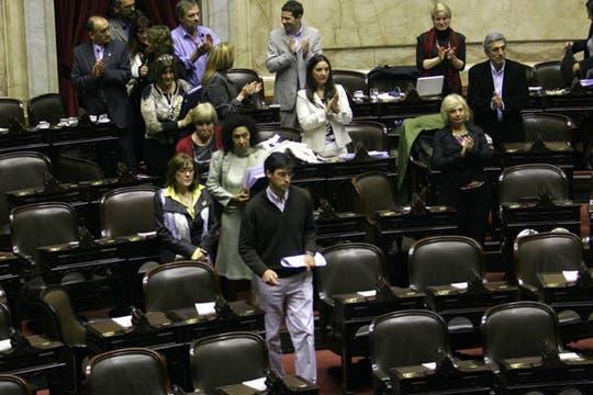 La oposición pide que se deje sin efecto la sesión ya que por reglamento, reclaman, debía haber comenzado antes de las 11. Foto: DyN