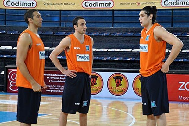 Manu volvió a entrenar con Weber Bahía