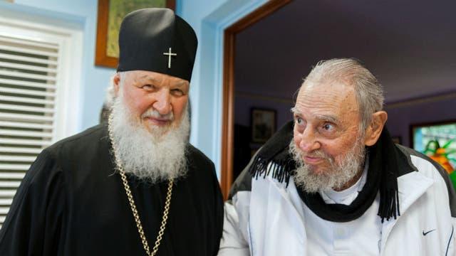 El patriarca ortodoxo con Fidel Castro