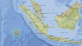 Alerta de tsunami en Indonesia tras un sismo de 7,9 grados